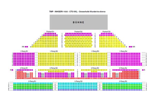 Sitzplan der Philharmonie in der Wunderino Arena