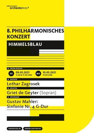 Plakat mit dem Programm des 8. Philharmonischen Konzertes